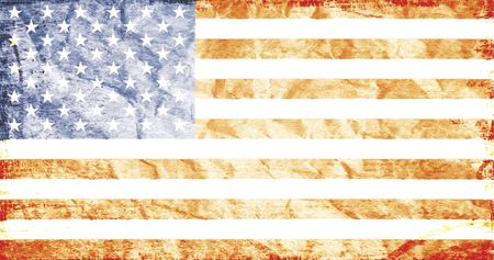 fading: Fading US Flag - Bad Condition Stars And Stripes, National Symbol Of America