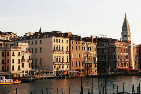 Venice, Italy - Typical Old Building Water Front Facade And Canal Stock Photo - 2548940