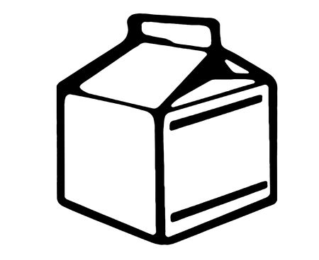 cold pack: Square Milk Box Illustration On A White Background