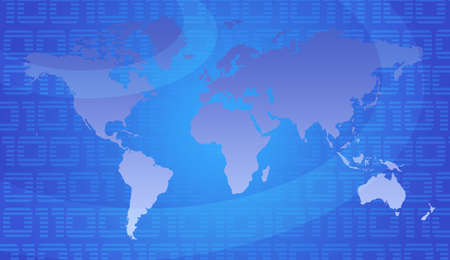 Binary World - Global Technology Concept In Blue Stock Photo - 2631950