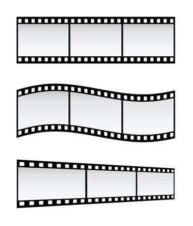 different shapes: Tre Strisce Della Pellicola Di 35mm Nelle Figure Differenti, Priorit� bassa Bianca