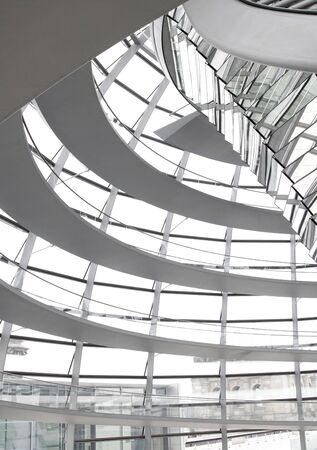 Glass Dome Interior Architecture Of The German Parliament Reichstag in Berlin photo