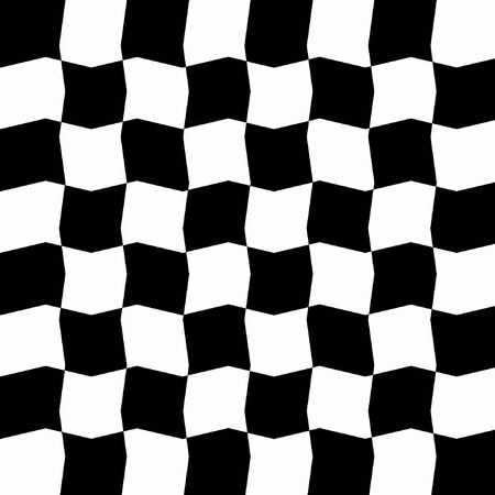 liquified: Chess Board - Eight By Eight Fields Alternating In Black And White In Wave Pattern