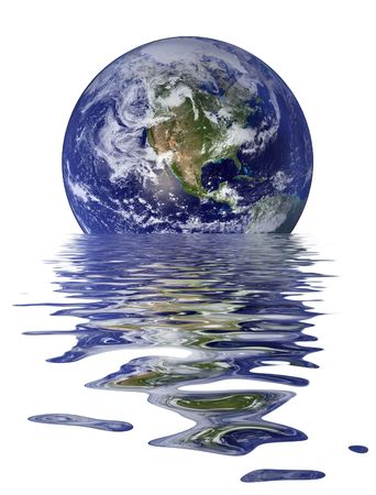 Melting Earth, North America And Pacific. Stock Photo - 2689244