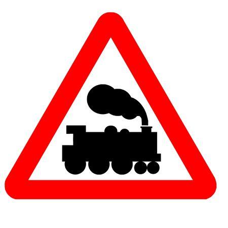 approaching: Traffic Sign - Warning, Train Approaching