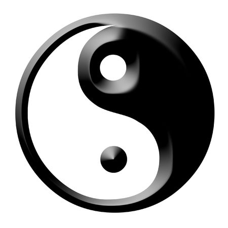 Dual Concepts Of Yin And Yang Describes Two Primal Opposing But Complementary Cosmic Forces photo