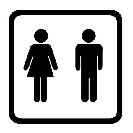 genders: Sign Indicating Womens And Mens Toilets Stock Photo