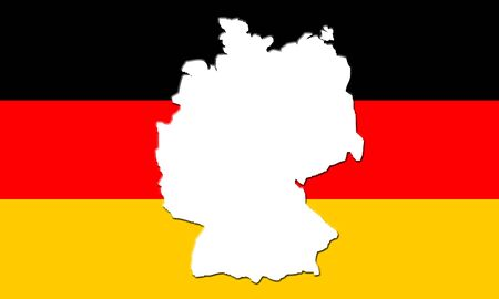Flag of Germany - German National Colours, Black Red Gold Tricolour Stock Photo - 2734947