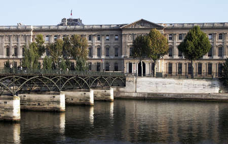river bank: Seine River Bank, Paris On A Clear Sunny Day In France