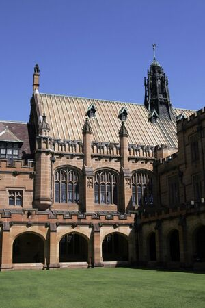 Old Brick Stone Building At Sydney University, Australia Stock Photo - 2734964