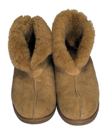 sheep skin: Warm Sheep Skin Shoes, isolated