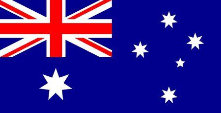 Flag of Australia - Union Jack And Southern Cross On Blue