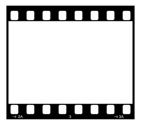 Single 35mm Film Negative Frame, Space For Own Picture Or Text Stock Photo - 2838726