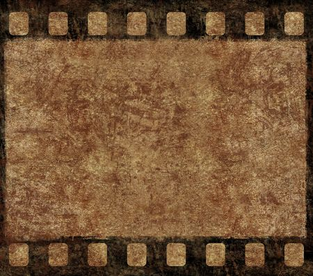 negativity: Single Old 35mm Film Negative Frame, Space For Own Picture Or Text, Grunge Background