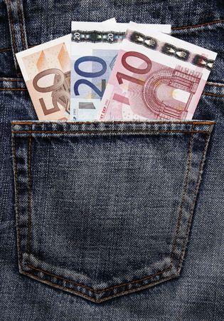pick money: Pocket dinero en Blue Jeans - diez, veinte y cincuenta euros