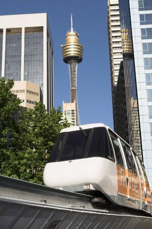 Monorail Public Transport And Tower, Sydney, Australia