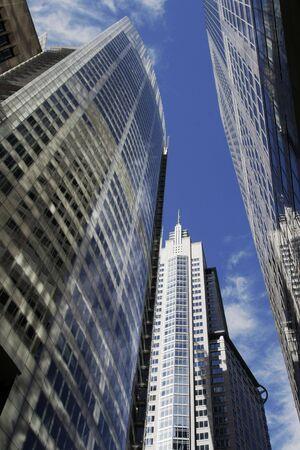 Modern Urban Office Buildings, Glass Facade With Window Reflections, Sydney, Australia