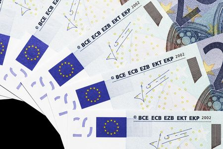 20 euro: Money - Details Of 20 Euro Notes Laid Out As Fan Stock Photo