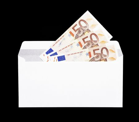 ec: Money Gift, White Envelope With Fifty Euro Notes - 50 EUR