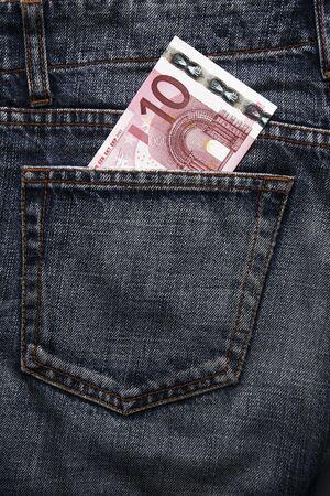 pick money: Pocket dinero en Blue Jeans - diez euros