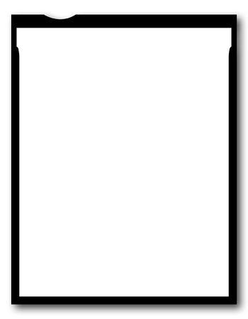 one sheet: Un vuoto pezzo di 4x5 pollici foglio di film, di grande formato  Archivio Fotografico