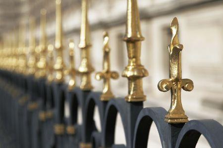 Golden Fence Spike, Architectural Detail, Paris, France
