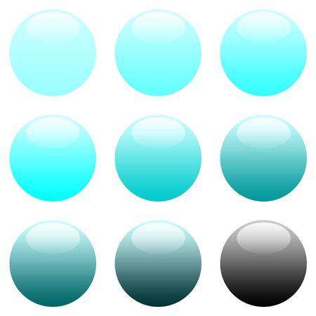 Blue Round Gradient Website Buttons - sRGB Colour Space photo