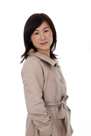Beautiful Young Asian (Chinese) Businesswoman With Coat photo