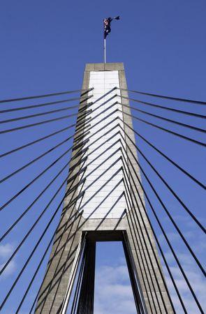 Anzac Bridge, Sydney, Australia: ANZAC Bridge is the longest cable-stayed bridge in Australia, and amongst the longest in the world. Stock Photo - 3515652