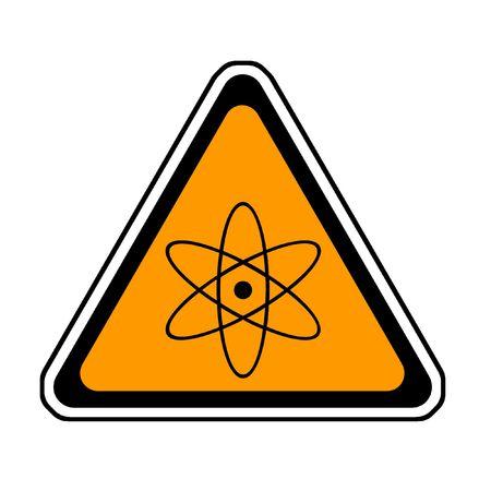 Radiation Warning Sign, Atomic Symbol, White Background photo