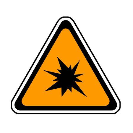 Triangle  Splash Warning Sign - Symbol, White Background Stock Photo - 3588034