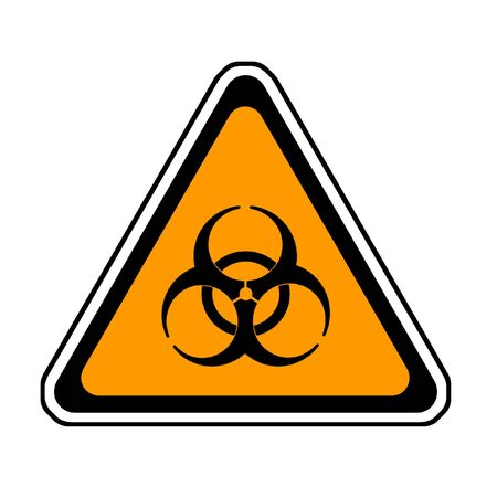 Biohazard Warning Sign, Bio Hazard Symbol, White Background Stock Photo