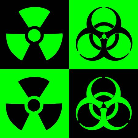 Warning Sign Of Radiation And Biohazard, Dual Colour Stock Photo - 3597179