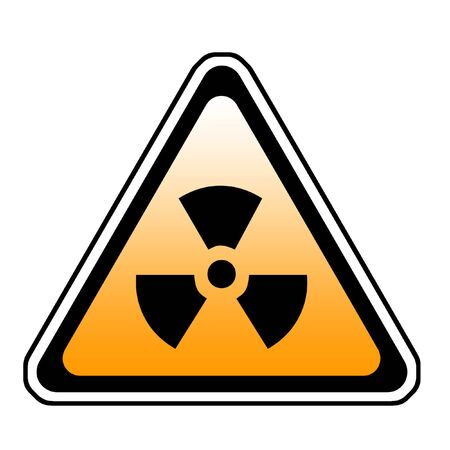 Radiation Warning Sign, Radio-Active Symbol, White Background Stock Photo - 3597176