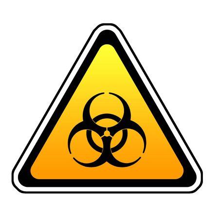 bio hazard: Biohazard Warning Sign, Bio Hazard Symbol, White