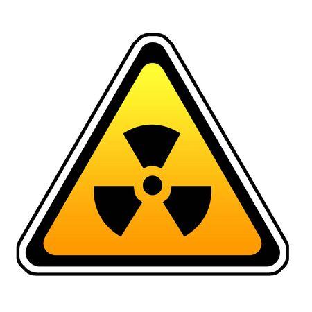 fallout: Radiation Warning Sign, Radio-Active Symbol, White  Stock Photo