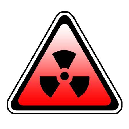 Radiation Warning Sign, Radio-Active Symbol, White Background Stock Photo - 3630937