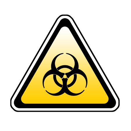 Biohazard Warning Sign, Bio Hazard Symbol, White Background Stock Photo - 3649470