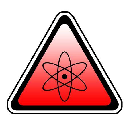 Radiation Warning Sign, Atomic Symbol, White Background Stock Photo - 3649475