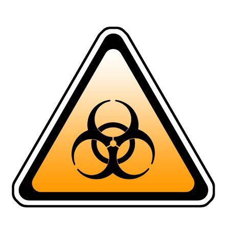 bio hazard: Biohazard Warning Sign, Bio Hazard Symbol, White Background Stock Photo