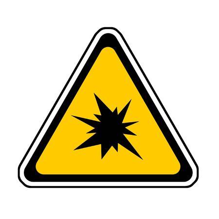 Triangle  Splash Warning Sign - Symbol, White Background Stock Photo - 3672717