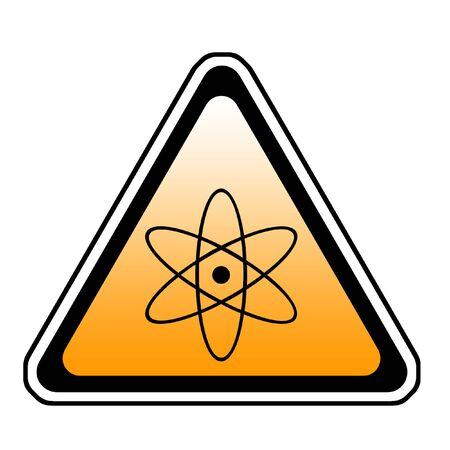 Radiation Warning Sign, Atomic Symbol, White Background Stock Photo - 3709954