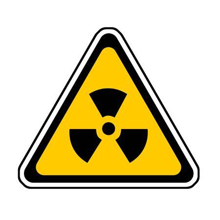 Radiation Warning Sign, Radio-Active Symbol, White Background Stock Photo - 3709952