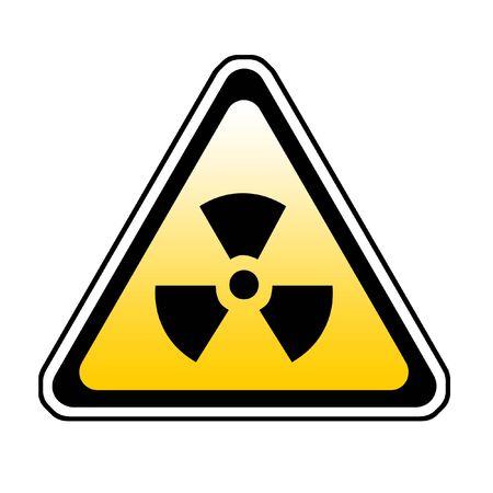 Radiation Warning Sign, Radio-Active Symbol, White Background Stock Photo - 3772767