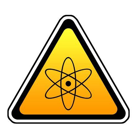 Radiation Warning Sign, Atomic Symbol, White Background Stock Photo - 3815928