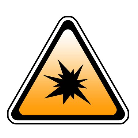 Triangle  Splash Warning Sign - Symbol, White Background Stock Photo - 3837550