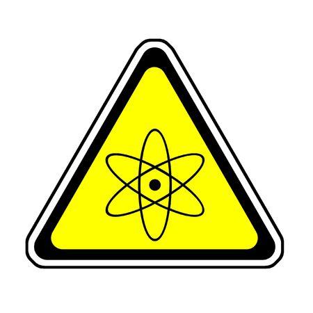 Radiation Warning Sign, Atomic Symbol, White Background Stock Photo - 3871104