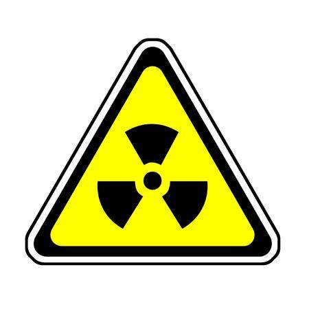 Radiation Warning Sign, Radio-Active Symbol, White Background Stock Photo - 3871102