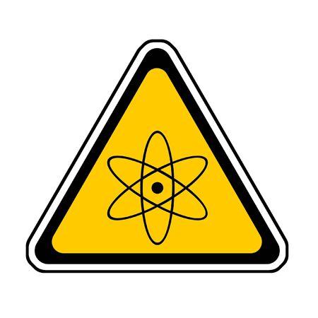 Radiation Warning Sign, Atomic Symbol, White Background Stock Photo - 3904245