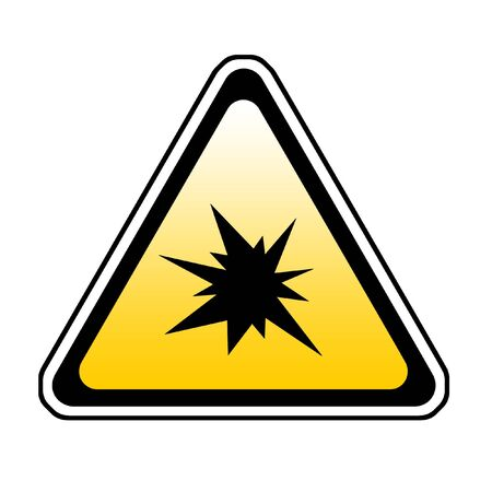Triangle  Splash Warning Sign - Symbol, White Background Stock Photo - 3947945